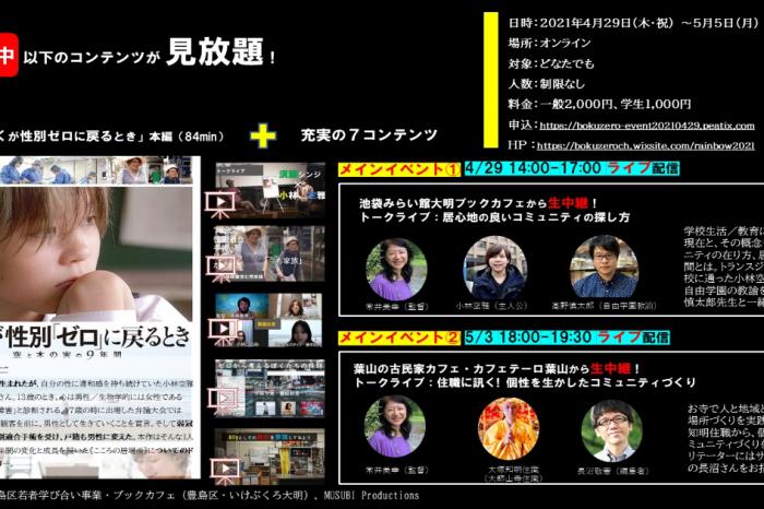 『ぼくが性別「ゼロ」に戻るとき』 プレミアムトーク付きオンライン上映会 [ LGBTQ ドキュメンタリー映画 ]<br>Online Screening of a Documentary Film